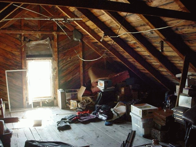 Remember to clean out the attic too!